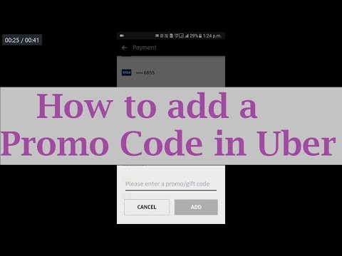 How to apply a promo code in Uber