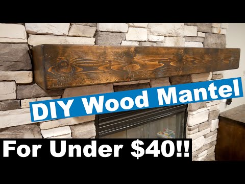 DIY Solid Looking Wood Mantel