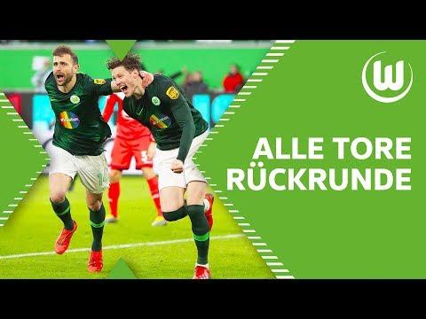 Brekalos Sahne-Volley & Weghorst im Fallen | Alle Tore des VfL Wolfsburg in der Rückrunde 2018/19