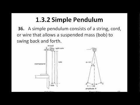 Pendulum Oscillation and Period