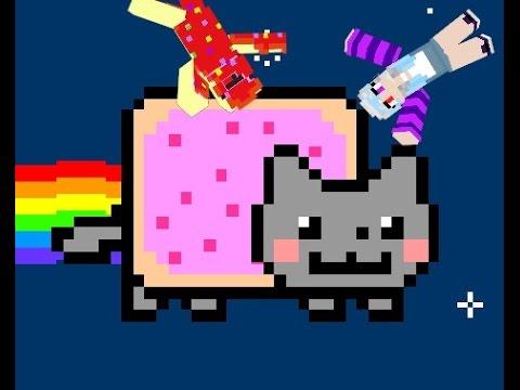 MCPE Nyan Cat Parkour/with sister