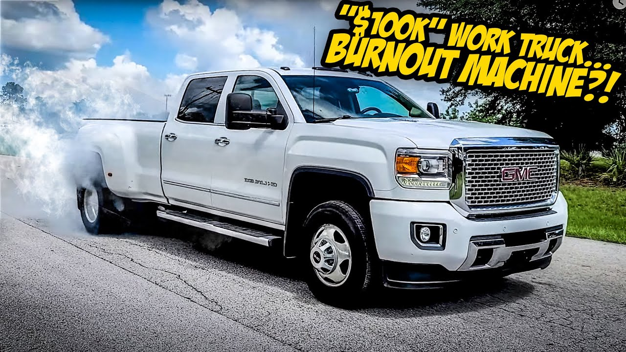 """We Turned A """"$100,000"""" Work Truck Into An INSANE BURNOUT MACHINE!"""