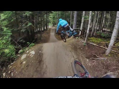 RAW BIKE - FAVORITE MOUNTAIN BIKE TRAIL IN  Whistler Bike Park GoPro [Downhill]