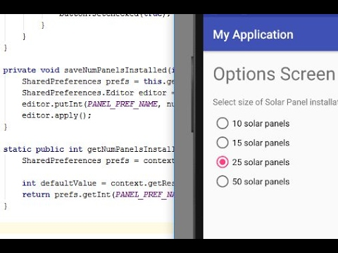 Custom Options/Settings Activity: Android Programming