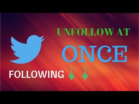 Mass Unfollow Twitter- How to mass Unfollow on Twitter - Mass Unfollow Twitter Tool -Twitter Hack #2