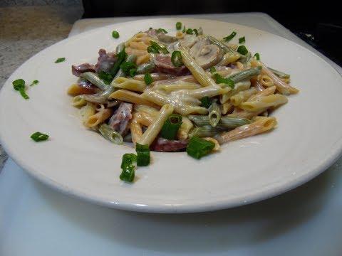 creamy mushroom and sausage pasta