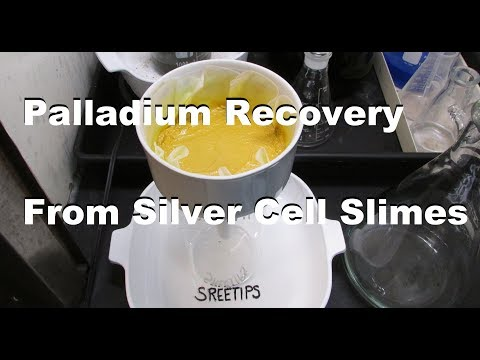 Palladium Recovery From Silver Cell Slimes