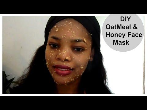 How To Make Oatmeal & Honey Face Mask | DIY Oatmeal & Honey Facial mask