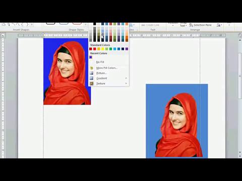 Cara Mengganti Background Photo Dengan Ms Word 2010