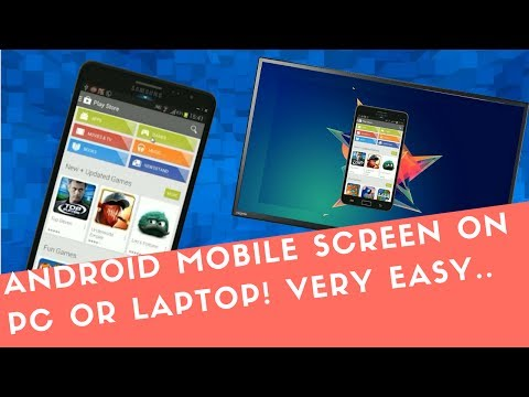 How to mirror your android mobile screen on computer or  laptop easily