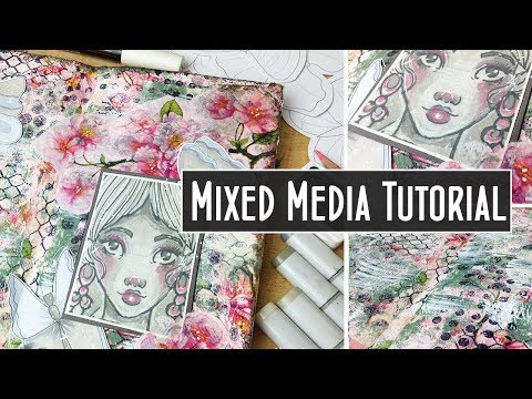 Using Napkins - Mixed Media Art Journal Page Tutorial - Creative Collage Ep 3