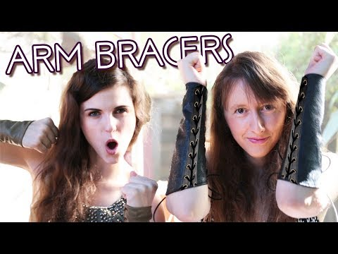 How to Make DIY Leather or Cloth Bracers, Cuffs, or Vanguards | Damsels in DIY Costume Tutorials