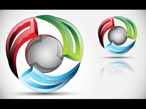 How to create 3D Logo Design in Adobe Illustrator CS5 | HD | PRO