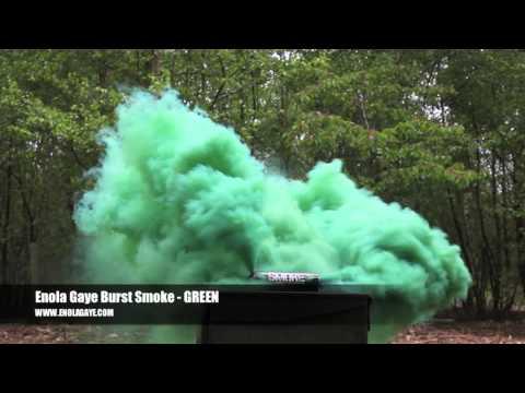 Enola Gaye Burst Smoke Grenade - GREEN