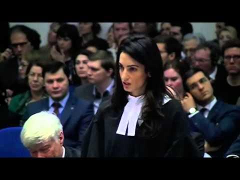 Amal Clooney défend la cause arménienne