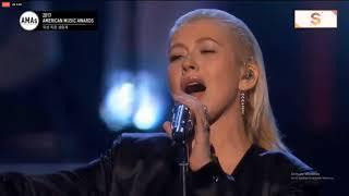 Christina Aguilera Performs Tribute to Whitney Houston - 2017 American Music Awards.