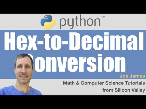 Python: Hexadecimal to Decimal Conversion
