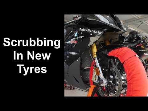 How To Scrub In New Motorcycle Tyres