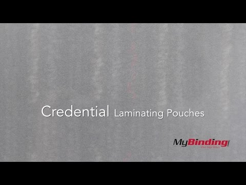 Credential Laminating Pouches