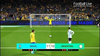 PES 2018 | BRAZIL vs ARGENTINA | Penalty Shootout | NEYMAR vs MESSI