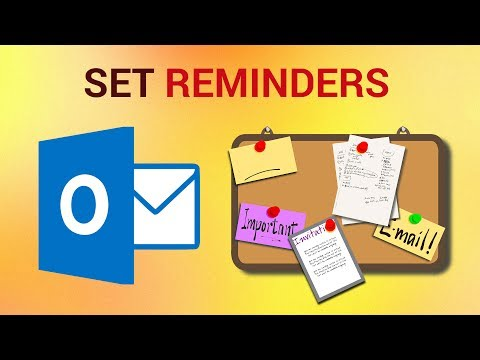 How to Set Reminders in Outlook 2016