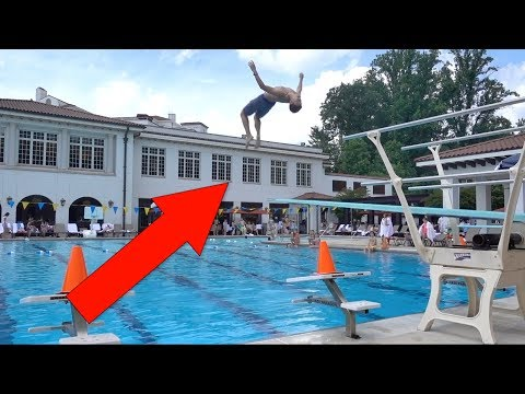THE WORLD'S BOUNCIEST DIVING BOARDS EVER!