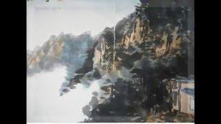 2015 송파여성문화회관 한국화 수묵채색화반 산수화 가을 청산 작품 02