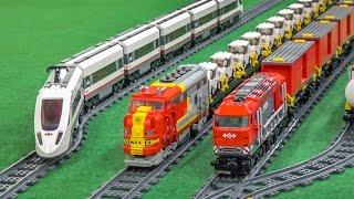 MEGA LEGO train Action and Crash compilation