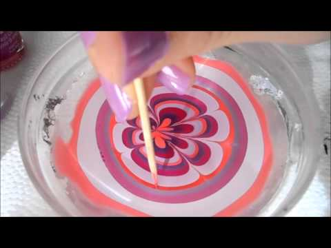 3 Very easy water marble nail art step by step tutorial