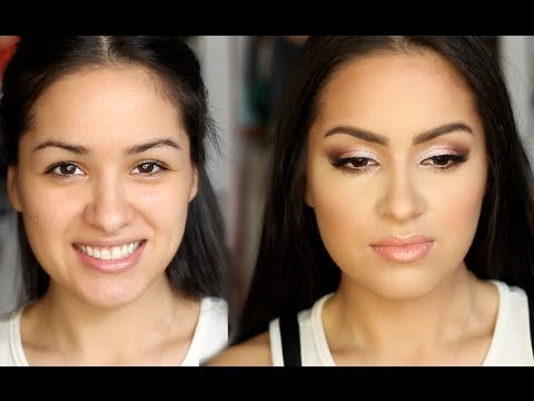 Full Face PROM Makeup Look for SMALL Eyes!