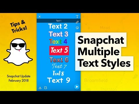 How to use Multiple Text Styles Snapchat