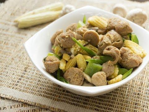 Soya and Babycorn Stir Fry/Indo- Chinese recipes