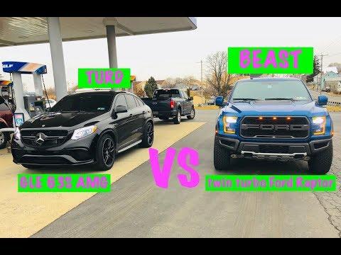 Ford Raptor vs GLE 63S AMG.......shocking results!