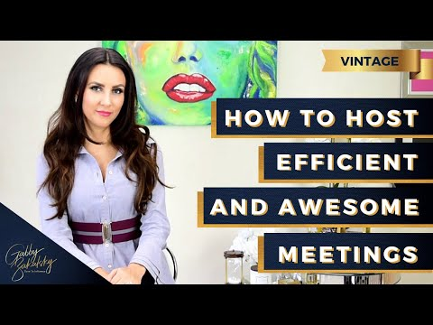 How to Host Efficient and Awesome Meetings