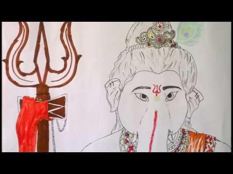 Vighnaharta Ganesh Drawing   Vighnaharta Ganesh   Ganpati, Vinayak  