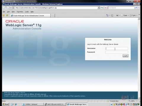 Oracle EnterpriseOne - Changing the Weblogic Password in EnterpriseOne