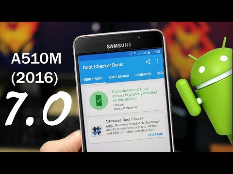 ROOT ANDROID NOUGAT (7.0)- SAMSUNG A510M(2016)