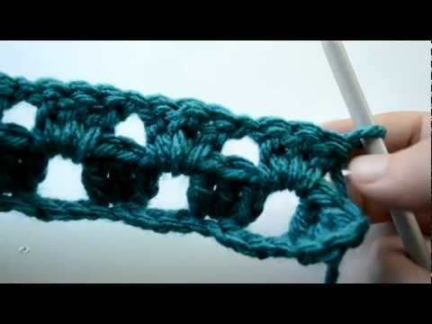 Crochet Lessons  - How to work straight rows based on the granny square - Part 2