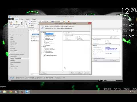 Tutorial - Customize Business Contact Manager 2013