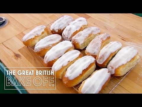 Kneading and Icing the Iced Buns - The Great British Bake Off