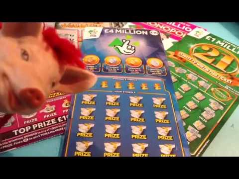 BIG Uncle 4 Million Scratchcard..MONOPOLY..'21 GREEN...CASH VAULT..LUCKY LINES..5x Cash