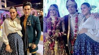 Pregnant Neha Dhupia Attends Prince Narula And Yuvika Chaudhary Wedding