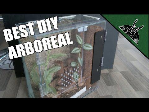 DIY - The best ARBOREAL ENCLOSURE design! - Poecilotheria enclosure/terrarium