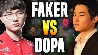 Faker Meets Dopa Again! - Faker vs Dopa - Faker Ahri vs Dopa Twisted Fate | SKT T1 Replays