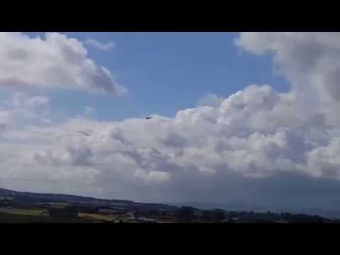 Eurofighter typhoon low fast pass exeter airport after torbay airshow