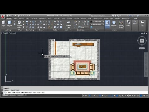 AutoCAD Floor Plan Design 2D with Image