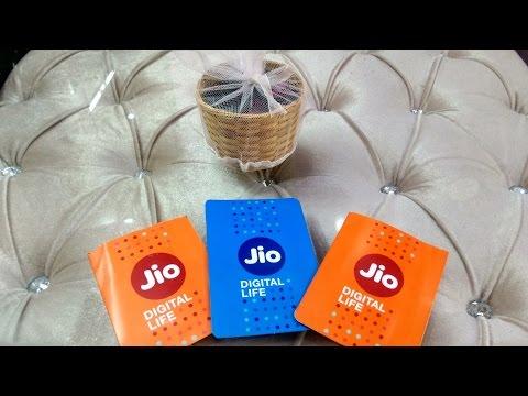 Jio sim Unboxing   (orange and blue both)