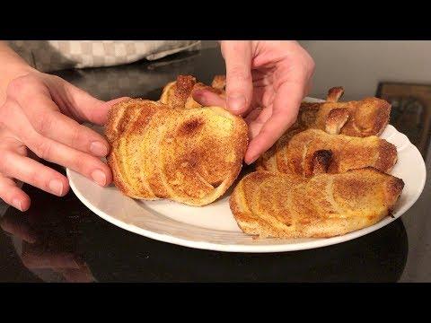 SFOGLIATELLE DI MELE - Ricetta facile e veloce   APPLE PUFFS PASTRY - Easy and fast recipe