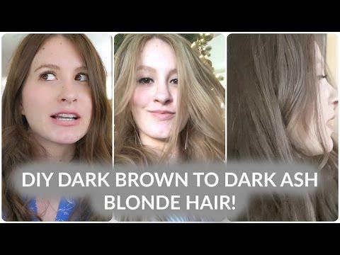 How to: Dark Brown to Blonde to Dark Ash Blonde Hair!!
