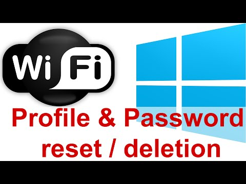Reset Wifi password in Windows 8